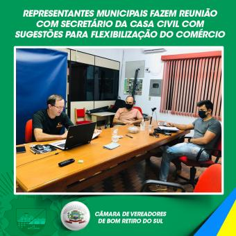Representantes municipais fazem reunião com Secretário da Casa Civil