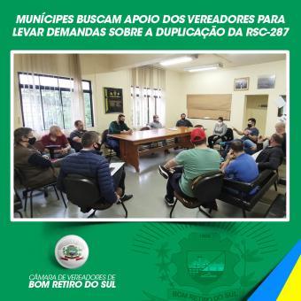 Munícipes buscam apoio para demandas da RSC 287